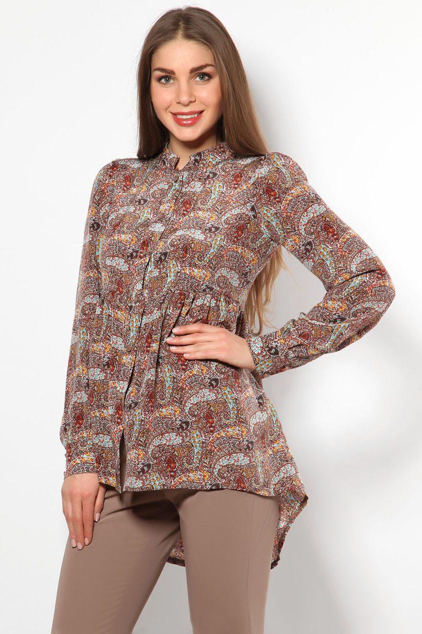 Удлиненная блузка сзади